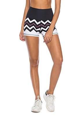 Mint Lilac Women Printed Summer Shorts Workout Yoga Short Pants