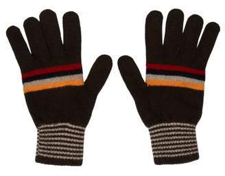 Paul Smith Striped Wool Gloves