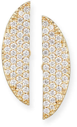 Lana Eclipse 14K Pave Diamond Earrings