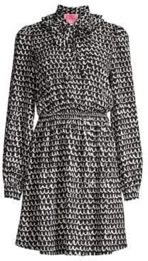 Kate Spade Women's Pop Scallop Fit& Flare Crepe Dress - Black - Size Large