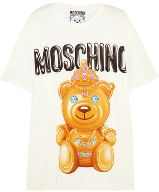 Moschino - Printed Cotton T-shirt - White $225 thestylecure.com