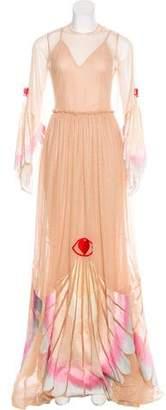 Sandra Mansour Mesh Maxi Dress