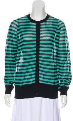 Akris Punto Striped Knit Cardigan w/ Tags