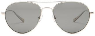 Ermenegildo Zegna Women&s Titanium Aviator Sunglasses $465 thestylecure.com