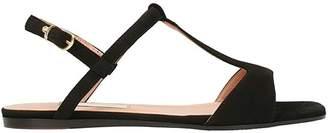 L'Autre Chose Black Suede Flat Sandals