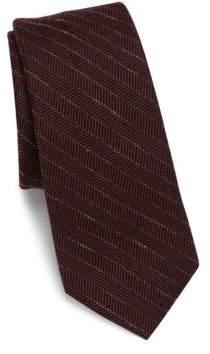 Saks Fifth Avenue MODERN Striped Wool Blend Tie