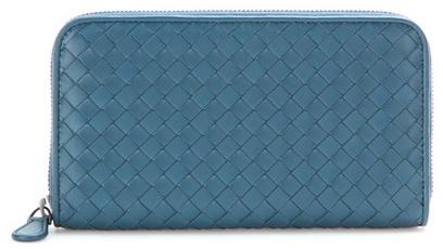 Bottega VenetaBottega Veneta Intrecciato Woven Leather Wallet