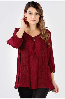 Asstd National Brand Crochet Embroidered Tunic