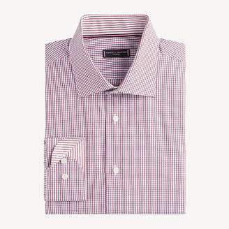 Spread Collar Check Print Shirt