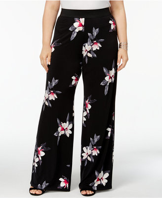 Alfani Plus Size Floral-Print Palazzo Pants, Created for Macy's $69.50 thestylecure.com