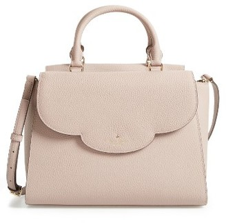 Kate Spade New York Leewood Place Makayla Leather Satchel - Metallic $398 thestylecure.com