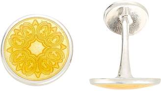 Barneys New York Men's Floral-Engraved Cufflinks