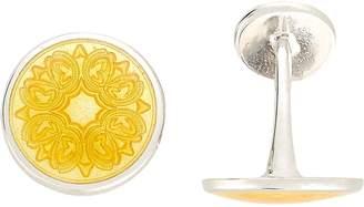 Barneys New York Men's Floral-Engraved Cufflinks