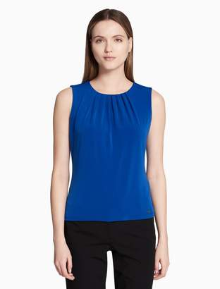 Calvin Klein pleat neck sleeveless cami top