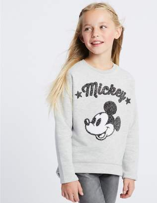 Marks and Spencer Mickey Mouse Sweatshirt (3-16 Years)
