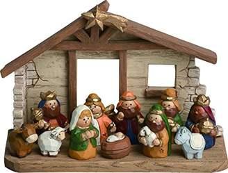 Mini A Ture Miniature Kids Nativity Scene with Creche