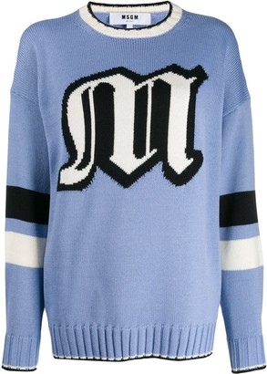 MSGM oversized logo knitted sweater