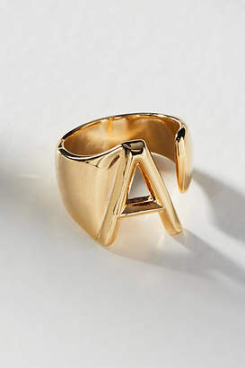 Anthropologie Monogram Wrap-Around Ring