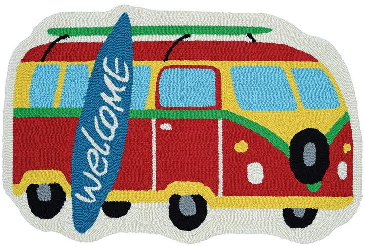 Couristan Couristan Covington Accents Surf's Up ''Welcome'' Indoor Outdoor Rug - 2' x 3'
