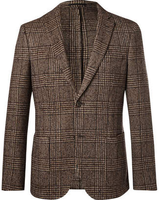 Officine Generale Brown Prince Of Wales Checked Wool Blazer