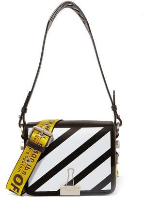 Off-White - Printed Leather Shoulder Bag - Black $1,005 thestylecure.com