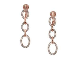 Lauren Ralph Lauren Crystal Clip Linear Drop Earrings