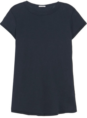 James Perse - Cotton-jersey T-shirt - Midnight blue $95 thestylecure.com