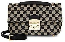Furla Women's Metropolis Leather Trim Checker Crossbody Bag