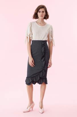 Rebecca Taylor Silk Twill & Jersey Top