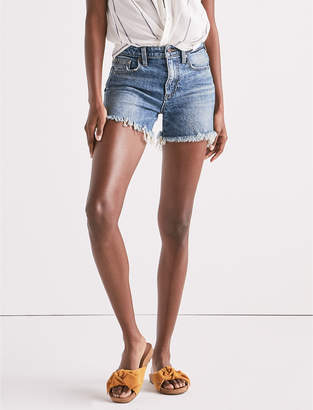 Lucky Brand HIGH RISE TOMBOY CUT OFF JEAN SHORT IN HARTLEY FRAY