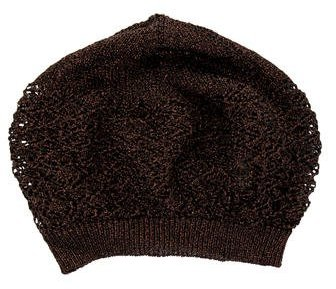 Missoni Missoni Metallic Open Knit Beanie