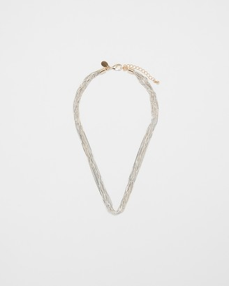 Express Multi Row Cut Chain Necklace