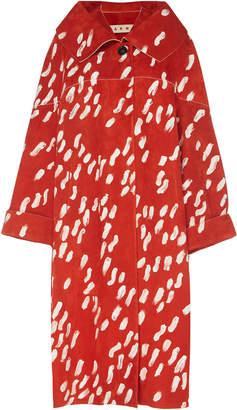 Marni Printed Suede Coat