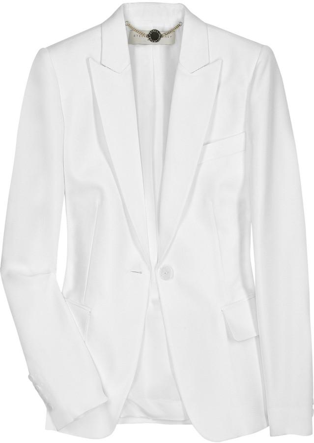 Stella McCartney Classic raw-silk blazer