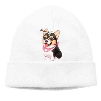 Corgi BaiRIhe Beanie Knit Hat for Man Women Skull Cap Fold Beanie Toque