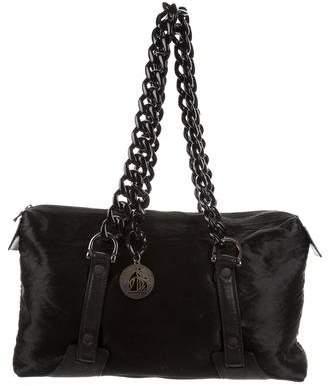 Lanvin Satin & Leather Shoulder Bag