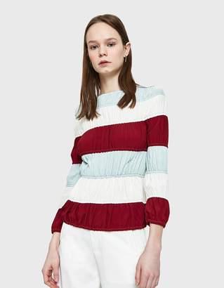 Marni Stripe L/S Shirt in White Pepper