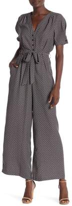 Max Studio Patterned Wide Leg Jumpsuit