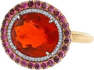 Irene Neuwirth JEWELRY Fire Opal And Pink Tourmaline Ring