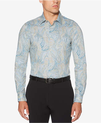 Perry Ellis Men's Speckle Paisley-Print Shirt