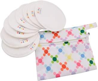 ALVABABY Reusable Antibacterial Super Soft Bamboo Cloth Nursing Pads/Breast Pads 4 Pairs 4R-CA