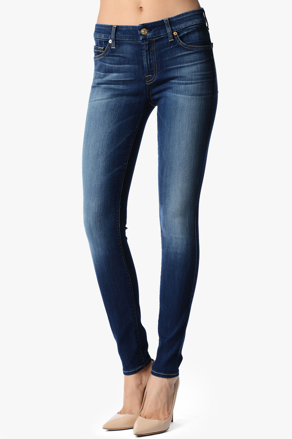 7 For All Mankind The Skinny In Blue Shadows