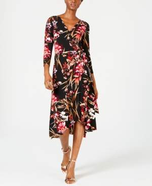 Connected Printed Wrap Dress