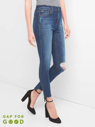 Gap Super High Rise True Skinny Jeans with Step-Hem in 360 Stretch