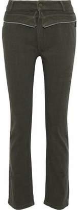RtA Morton Zip-Trimmed High-Rise Slim-Leg Jeans