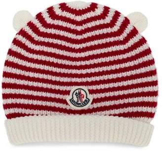 Moncler striped knit beanie