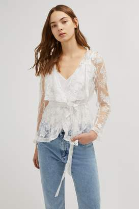 French Connenction Elayna Lace Waterfall Jacket