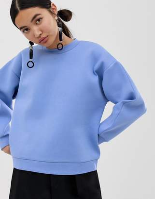 Asos bonded sweatshirt