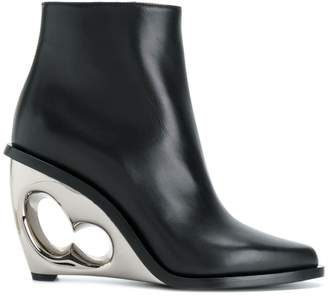 Alexander McQueen sculpted wedge boots