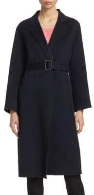 Emporio Armani Long Belted Cashmere Wrap Coat